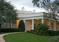 Exterior view of the Oval Office from the South Lawn of the White House in Washington, DC on Friday, October 21, 2016.<br /> Credit: Ron Sachs / Pool via CNP /MediaPunch
