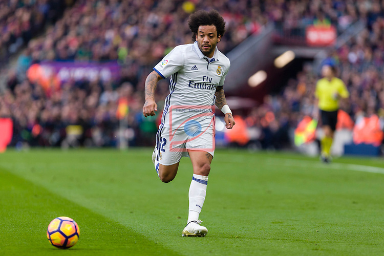 League Santander 2016/2017. Game: 14.<br /> FC Barcelona vs Real Madrid: 1-1.<br /> Marcelo.