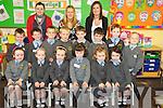 Junior infants in Cullina National School Kayla Roche, Rachel O'Loughlin, Anna Mai Tuohy, Tessa Cronin, Avril Rooney, Mell Crowley, James Garland, Evind Caulfield Drier, Arthur Gabbett, Danny Falvey, Eanna Murphy, Cillian Wallace, Thomas Coffey and Jack Gabbett pictured with their teachers Una Costello, Alison Tuohy and Lisa Murphy...........................................................................................................