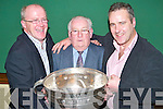 SOCIAL: Enjoying the John Mitchels GAA Social at their Clubhouse in Tralee on Saturday night. Front l-r: John Higgins Timmy Dowd