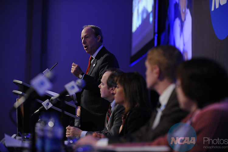 15 JAN 2010: Paul Trible of Christopher Newport University during the DIII Issues Forum at the 2010 NCAA Convention held at the Marriott Marquis and the Hyatt Regency in Atlanta, GA. Brett Wilhelm/NCAA Photos.