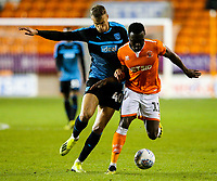 Blackpool's Joe Dodoo vies for possession with West Bromwich Albion U21's Kyle Howkins<br /> <br /> Photographer Alex Dodd/CameraSport<br /> <br /> The EFL Checkatrade Trophy Northern Group C - Blackpool v West Bromwich Albion U21 - Tuesday 9th October 2018 - Bloomfield Road - Blackpool<br />  <br /> World Copyright &copy; 2018 CameraSport. All rights reserved. 43 Linden Ave. Countesthorpe. Leicester. England. LE8 5PG - Tel: +44 (0) 116 277 4147 - admin@camerasport.com - www.camerasport.com