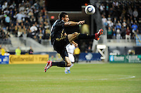 Sebastien Le Toux (9) of the Philadelphia Union. The Los Angeles Galaxy defeated the Philadelphia Union  1-0 during a Major League Soccer (MLS) match at PPL Park in Chester, PA, on October 07, 2010.