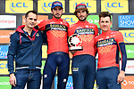 Bahrain-Merida win the overall team classification at the end of Stage 8 of the 2018 Paris-Nice running 110km from Nice to Nice, France. 11th March 2018.<br /> Picture: ASO/Alex Broadway | Cyclefile<br /> <br /> <br /> All photos usage must carry mandatory copyright credit (&copy; Cyclefile | ASO/Alex Broadway)