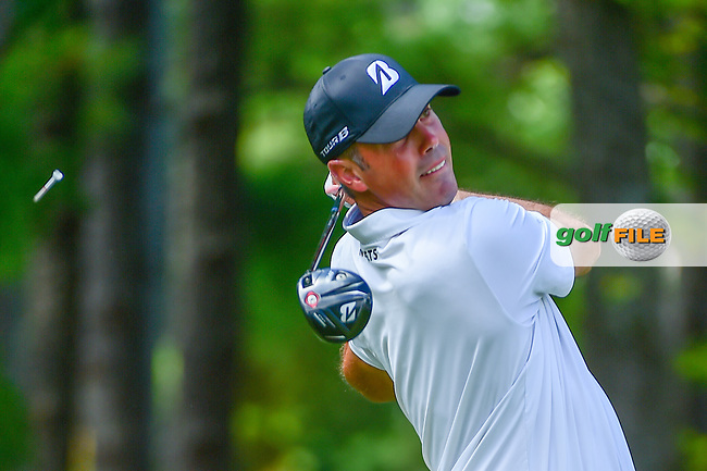 Matt Kuchar (USA) watches his tee shot on 5 during Thursday's round 1 of the PGA Championship at the Quail Hollow Club in Charlotte, North Carolina. 8/10/2017.<br /> Picture: Golffile   Ken Murray<br /> <br /> <br /> All photo usage must carry mandatory copyright credit (&copy; Golffile   Ken Murray)