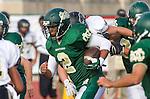 Manhattan Beach, CA 10/24/13 - unidentified Mira Costa player(s) in action during the Palos Verdes Peninsula and Mira Costa Junior Varsity Football game at Mira Costa High School.