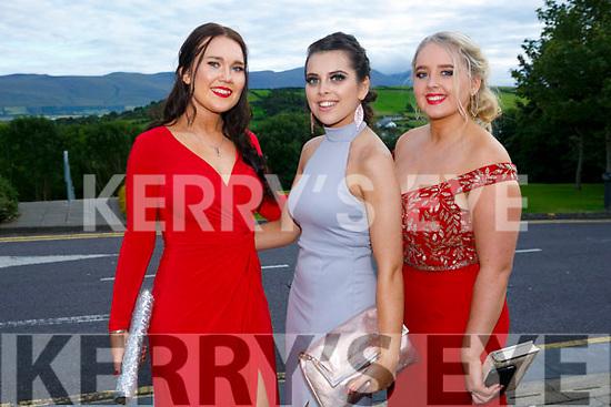 Enjoying the Killarney secondary schools Debs at Ballyroe Heights Hotel on Monday were Aobhinn Dobbins, Razia McCannon and Megan Brosnan