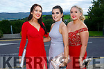 Enjoying the Killarney secondary schools Debs at Ballyroe Heights Hotel on Monday were Aobhinn Dobbins, Razia McCannon and Megan Brosnan