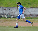 Martin Greehan celebrates after he scores Stranraer's first...