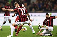 Milano 01-10-2017 Stadio Meazza San Siro Football Calcio 2017/2018 Serie A Milan - Roma foto Matteo Gribaudi/Image Sport/Insidefoto <br /> nella foto: gol Edin Dzeko Roma Goal celebration