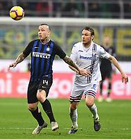 Radja Nainggolan-Albin Ekdal<br /> Milano 17-2-2019 Stadio Giuseppe Meazza in San Siro Football Serie A 2018/2019 FC Internazionale  - UC Sampdoria Foto Image Sport / Insidefoto