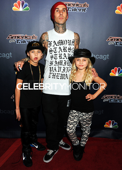 NEW YORK CITY, NY, USA - SEPTEMBER 17: Travis Barker attends the 'America's Got Talent' Season 9 Finale held at the Radio City Music Hall on September 17, 2014 in New York City, New York, United States. (Photo by Celebrity Monitor)