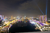 "Singapore. Level 33 Restaurant & Lounge offers ""experimental penthouse dining in the World's highest urban craft-brewery."" Great place to watch Marina Bay Sand's free light and water show"