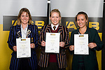 Girls Golf finalists Alana Wylie, Hayley Clinning & Larissa Eruera. ASB College Sport Young Sportperson of the Year Awards 2008 held at Eden Park, Auckland, on Thursday November 13th, 2008.