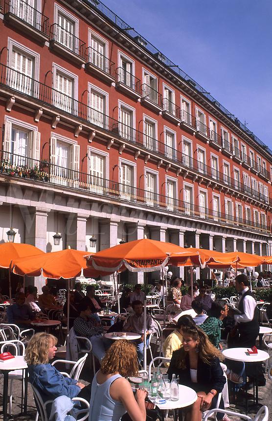 Cafe in Plaza Mayor in Madrid, Spain