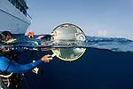 Solar powered gauge from NOAA measuring sea temperature