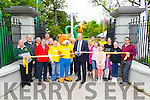 Mayor Of Tralee Jim Finucane and Parky Bear officially opened  the new Tralee Town park Gates and start Feile na mBlath Park Festival on Saturday