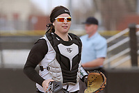 NWA Democrat-Gazette/BEN GOFF @NWABENGOFF<br /> Haley Cornell, Bentonville Catcher, leaves the field after an inning against Van Buren Thursday, March 16, 2017, during the softball game at Bentonville's Tiger Athletic Complex.