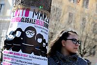 Roma, 8 Marzo 2017<br /> Sciopero globale delle donne, contro la violenza di genere  e lo sfruttamento .<br /> a Trastevere in piazza per la scuola pubblica e per una educazione di genere.