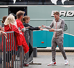 07.08.2019 FC Midtjylland and Rangers pressers: Steven Gerrard arriving at the MCH Arena in Herning, Denmark
