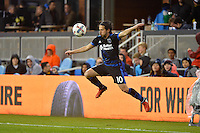 San Jose, CA - Saturday, March 04, 2017: Jahmir Hyka during a Major League Soccer (MLS) match between the San Jose Earthquakes and the Montreal Impact at Avaya Stadium.