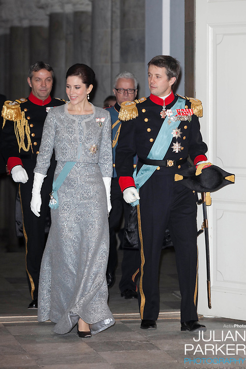 Crown Prince Frederik and Crown Princess Mary of Denmark attend the New Year Court for diplomats at Christiansborg Palace in Copenhagen, Denmark.