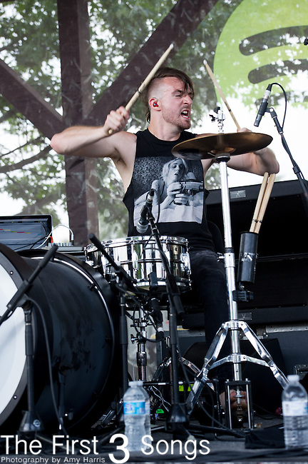 Shane Wise of Five Knives performs during the Vans Warped Tour at the Klipsch Music Center in Indianapolis, IN.