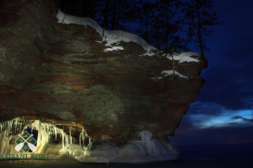 &quot;A Night at the Ice Caves&quot;<br /> The sky set the mood at the ice caves after dusk.