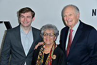 """LOS ANGELES, USA. November 06, 2019: Alan Alda, Arlene Alda & Jake Alda Coffey at the premiere for """"Marriage Story"""" at the DGA Theatre.<br /> Picture: Paul Smith/Featureflash"""