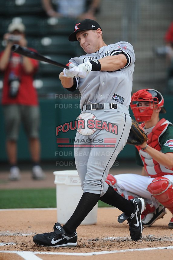 Kannapolis Intimidators Ian Gac South Atlantic League All Star Game at Fluor Field in Greenville, South Carolina June 22, 2010.   The game ended in a 5-5 tie.  Photo By Tony Farlow/Four Seam Images