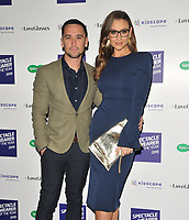 LONDON, ENGLAND - OCTOBER 08: Tom Pitford and Catherine Tyldesley at the Specsavers' Spectacle Wearer of the Year Awards 2019, 8 Northumberland Avenue, Northumberland Avenue on Tuesday 08 October 2019 in London, England, UK. <br /> CAP/CAN<br /> ©CAN/Capital Pictures