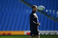 England skills coach Mike Catt looks on. England Captain's Run on October 9, 2015 at Manchester City Stadium in Manchester, England. Photo by: Patrick Khachfe / Onside Images