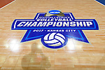 KANSAS CITY, MO - DECEMBER 16: The NCAA volleyball logo is on display during the Division I Women's Volleyball Championship held at Sprint Center on December 16, 2017 in Kansas City, Missouri. (Photo by Jamie Schwaberow/NCAA Photos via Getty Images)