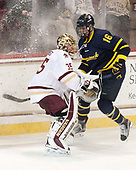 Ryan Edquist (BC - 35), Chris LeBlanc (Merrimack - 16) - The visiting Merrimack College Warriors defeated the Boston College Eagles 6 - 3 (EN) on Friday, February 10, 2017, at Kelley Rink in Conte Forum in Chestnut Hill, Massachusetts.