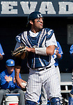 March 10, 2012:   Nevada Wolf Pack catcher Carlos Escobar Jr. against the UC Santa Barbara Gauchos  during  their NCAA baseball game played at Peccole Park on Saturday afternoon in Reno, Nevada.
