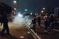 SAO BERNARDO DO CAMPO, SP,01 de julho 2013- Protetso do passe livre em Sao Bernado do Campo termina em confronto com a Policia Militar no Paco Municipal   ADRIANO LIMA / BRAZIL PHOTO PRESS).