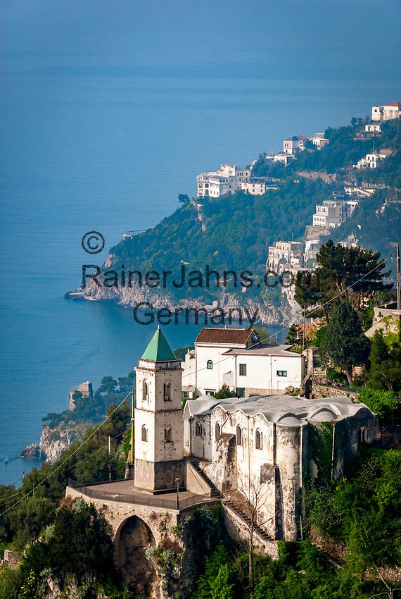 Italien, Kampanien, Pastena oberhalb Amalfi mit Kirche Santa Maria Assunta | Italy, Campania, Pastena above Amalfi with church Santa Maria Assunta