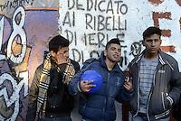 """Roma, 16 Febbraio 2013.Corteo contro la speculazione edilizia..""""stop alla fiera della speculazione""""contro la svendita dell'ex Fiera di Roma e della cementificazione della città"""