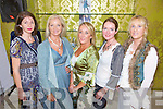 MODEL LOOKS: Carol Kennelly, Jean Lennon, Irene O'Riordan, AnnMarie O'Leary and Claire Murphy (organiser) all enjoyed wearing the latest styles at the launch of the Tree House Clothing range in Expose Salon, Mounthawk on Sunday evening.