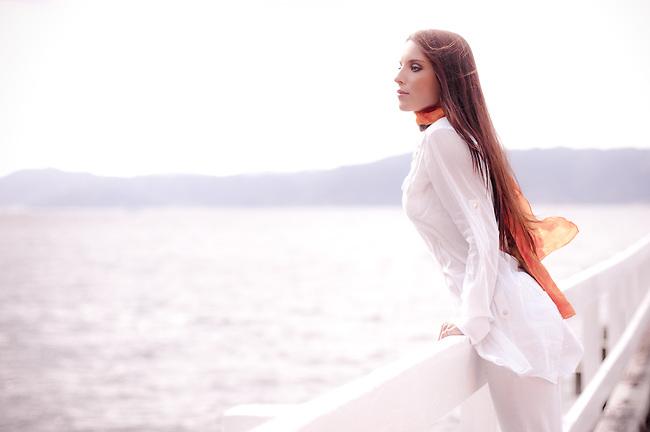 Lexxie on the Karaka Bay jetty