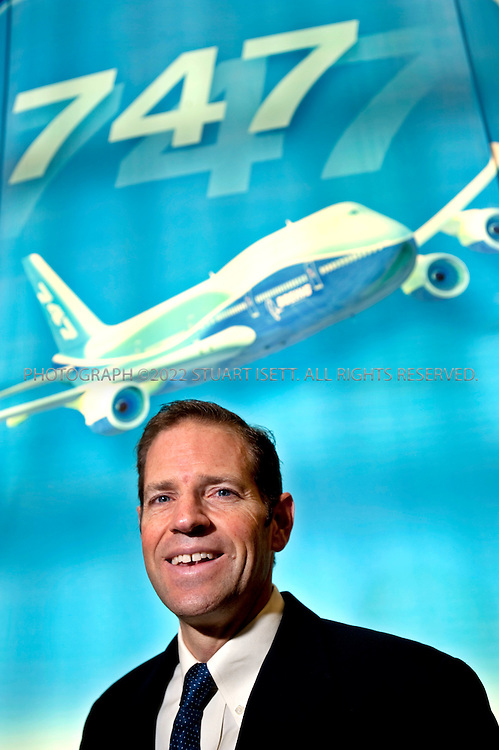 10/23/2009--Renton, WA, USA..Drew Magill posing at the Boeing Customer Experience Center...©2009 Stuart Isett. All rights reserved.