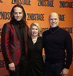 Jordan Roth, Carole Rothman and Richie Jackson backstage at  the Second Stage Theater Broadway lights up the Hayes Theatre at the Hayes Theartre on February 5, 2018 in New York City.