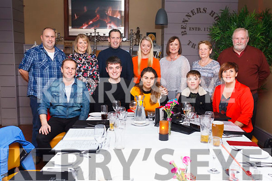 Birthday greeting as Muiranne Dillane celebrates her 18th birthday with family &amp; friends in Benners Hotel, Tralee on Thursday last.<br /> Seated l to r, Brendan Dillane, Donagh McGivergan, Muiranne Dillane, Sean and Elaine Dillane.<br /> Standing, Declan &amp; Breda Dillane, Henry Burrows, Clodagh and Valarie Higgins, Vourneen and Seanie Burrows.