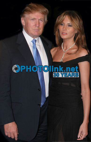 DONALD TRUMP and Melania Trump 2005<br /> Photo By John Barrett/PHOTOlink