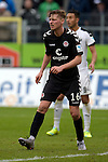 GER - Sandhausen, Germany, March 19: During the 2. Bundesliga soccer match between SV Sandhausen (white) and FC ST. Pauli (grey) on March 19, 2016 at Hardtwaldstadion in Sandhausen, Germany. (Photo by Dirk Markgraf / www.265-images.com) *** Local caption *** Marc Hornschuh #16 of FC St. Pauli