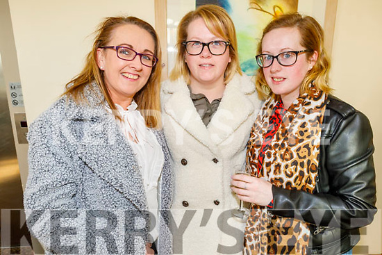 Patsy O'Heir, Irene and Laura Lynch attending the Women's Christmas lunch in the Ballyroe Heights Hotel on Sunday.