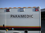 Paramedic sign on ambuilance