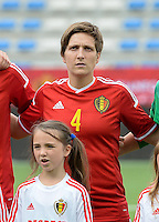 20150523 - SINT-TRUIDEN ,  BELGIUM : Belgian Maud Coutereels pictured during the friendly soccer game between the Belgian Red Flames and Norway, a preparation game for Norway for the Women's 2015 World Cup, Saturday 23 May 2015 at Staaien in Sint-Truiden , Belgium. PHOTO DAVID CATRY