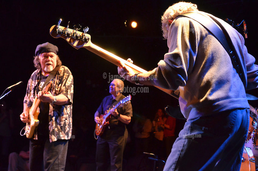 FishHead Stew playing in Concert at FTC StageOne, Fairfield CT. Former Radiators members: Dave Malone (guitar), Camile Baudoin (guitar), Reggie Scanlan (bass) and Adam Deitch. 8 February 2012.