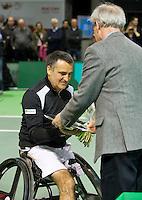 Februari 13, 2015, Netherlands, Rotterdam, Ahoy, ABN AMRO World Tennis Tournament, Stephane Houdet (FRA) Photo: Tennisimages/Henk Koster